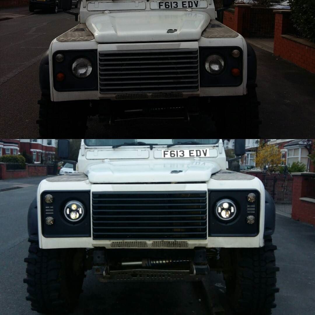 Front end change before and after :) #defender #landroverdefender #defender110 by copey666 Front end change before and after :) #defender #landroverdefender #defender110
