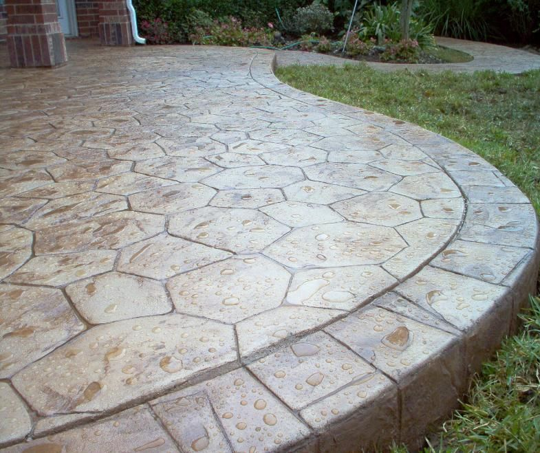 Stamped concrete patios concrete houston stamped for Concrete house texas
