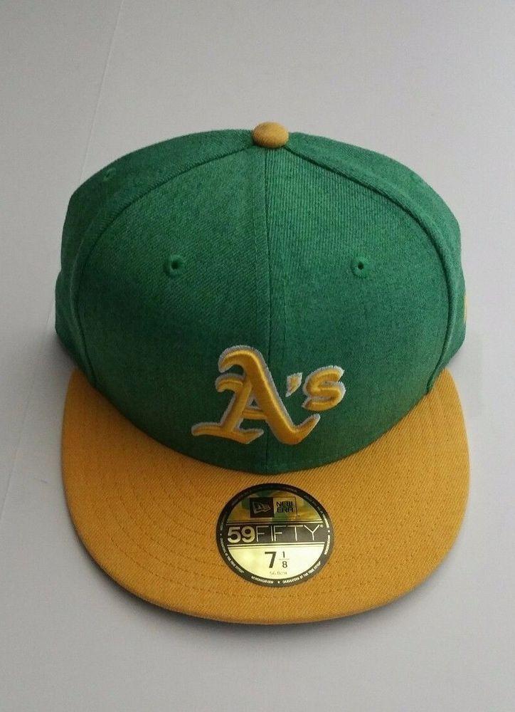 detailed look 0fd9e 4e32e ... canada new era oakland as 5950 heathered green cap mlb team baseball  fitted hat 7 1 ...