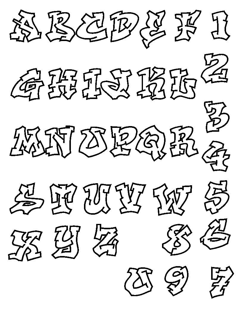 10 Coole Graffiti Abc Buchstaben Ausdrucken