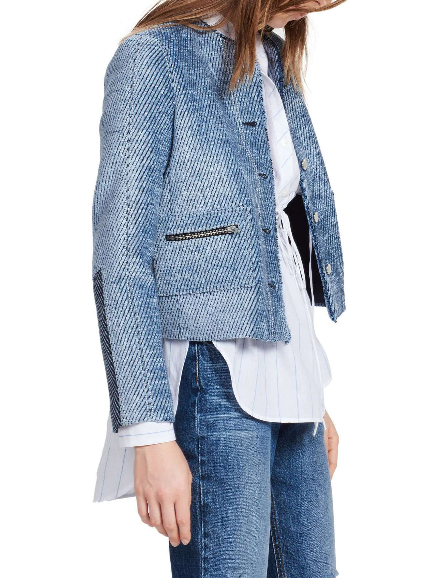 Sandro Paris, Annelie Jacket, Denim (With images