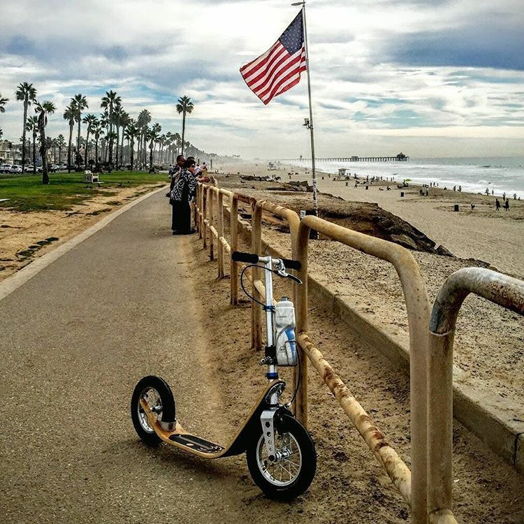 Our First Boardy In Long Beach California Perfect Scooter For A Nice Sunset Ride On The Pacific Bikeway Boardyonboard Kickscooter