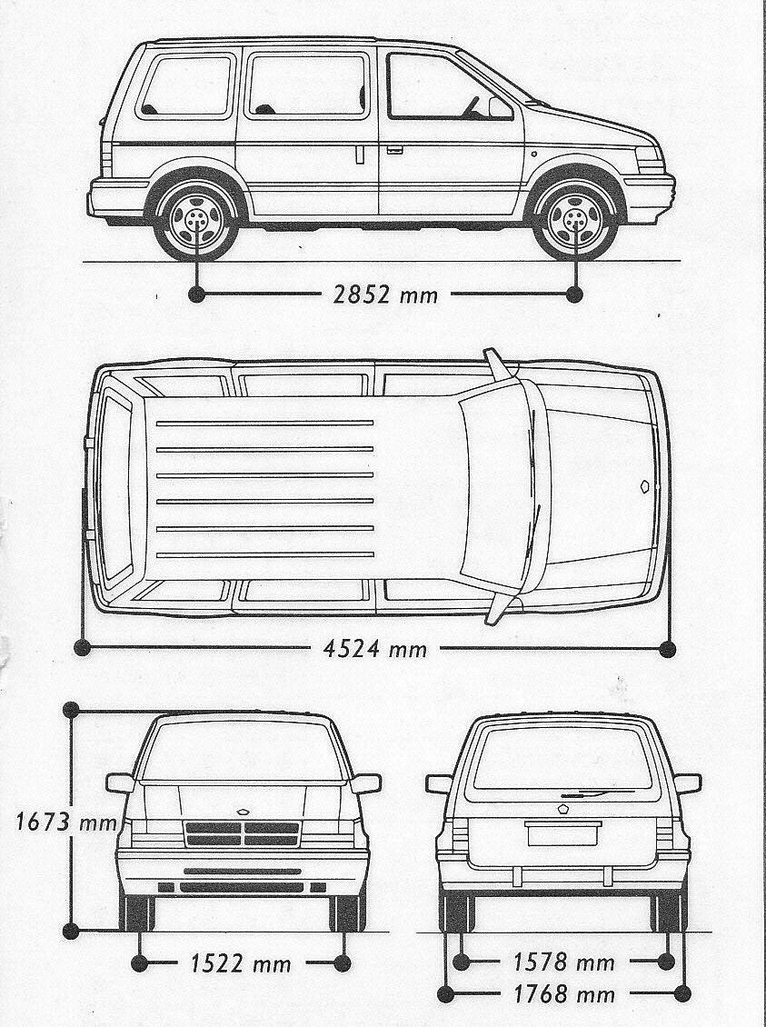 Chrysler Voyager Blueprint Camioneta Chrysler Autos Autos Antiguos