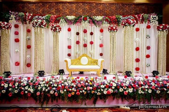 Stage Back Drop Wedding Stage Decorations Wedding Hall