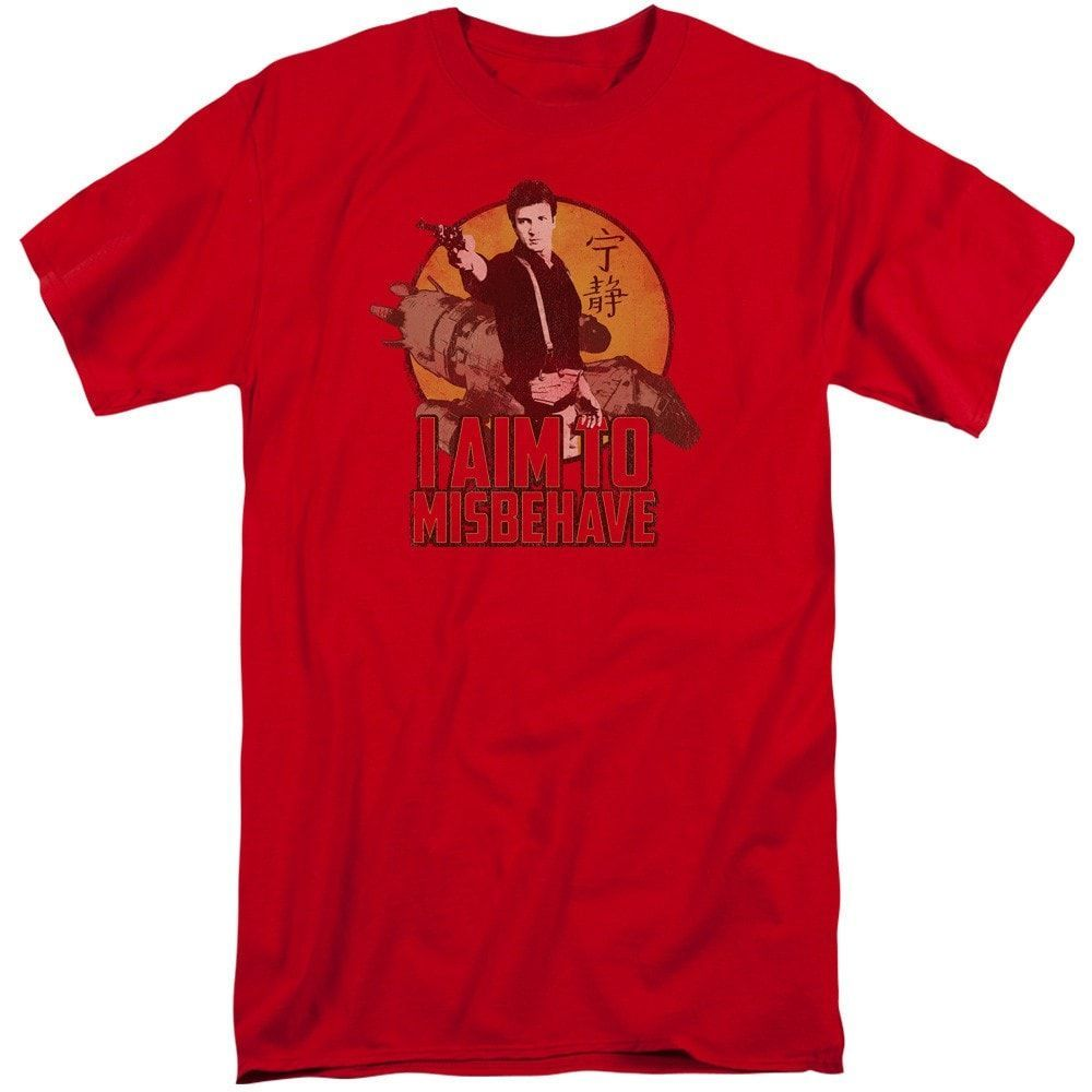 Firefly - I Aim To Misbehave Adult Tall Fit T-Shirt