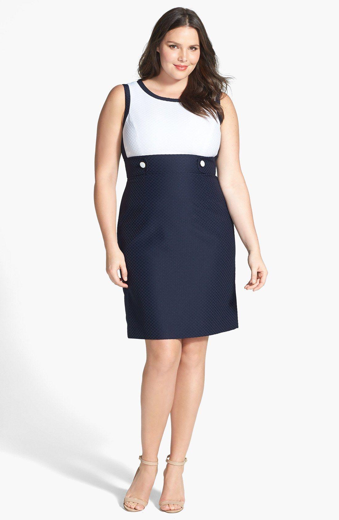 Tahari Colorblock Sheath Dress Plus Size Nordstrom Vestidos