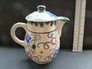 Honiton-Pottery-Collard-Coffee-Pot-Sweet-Pea-Vintage