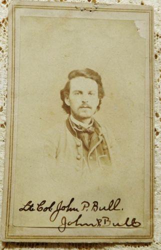 Confederate Lt Col John P Bull CDV Carte MissouriCivil WarsLincolnLibertyCarte De VisiteFreedomPolitical Freedom