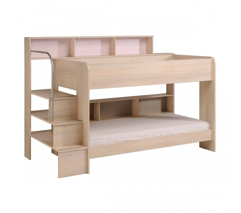 Bibop 2 Bunk Twin Over Twin Bed With Trundle 2 Mattresses Included Bunk Beds With Stairs Bunk Beds Bunk Beds With Storage