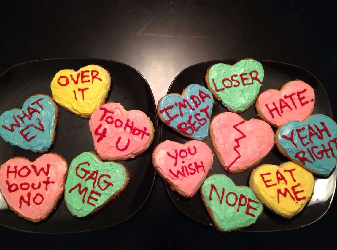Anti Valentine S Day Candy Heart Sugar Cookies I Successfully Made