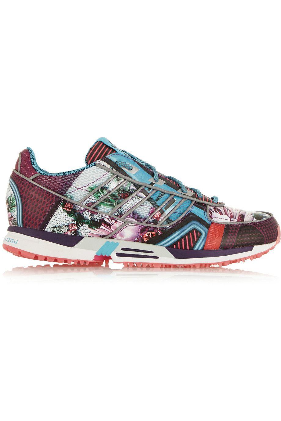 ADIDAS ORIGINALS + Mary Katrantzou Track Zx 5000 Scuba-Jersey Sneakers. # adidasoriginals #