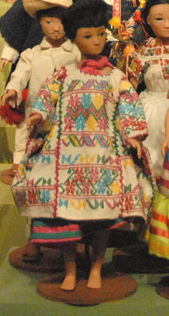 Amuzgo Doll Guerrero from the state of Guerrero, Mexico. The huipil (and skirt) were probably made in Suljaa (Xochistlahuaca), a famous weaving center of Mexico