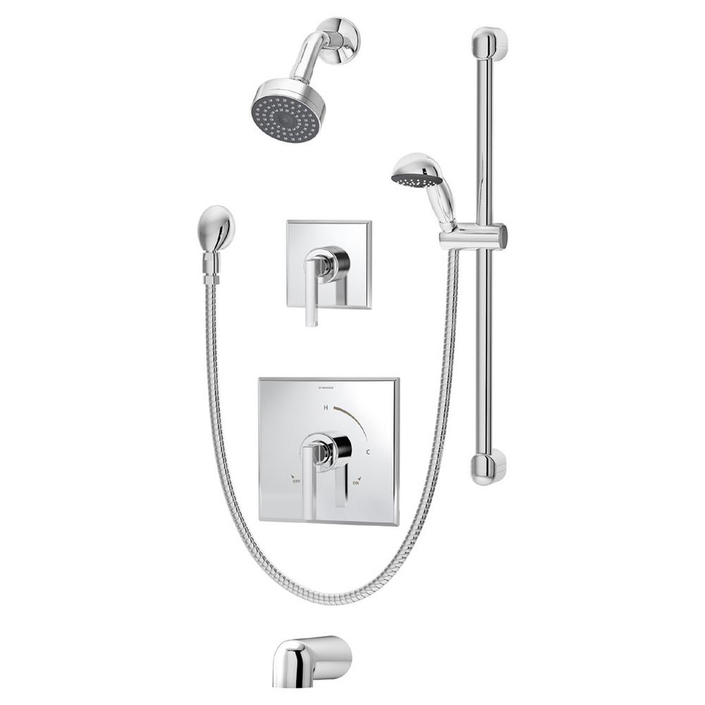 Symmons Duro Single-Handle Tub/Shower/Hand Shower Valve Trim Kit in ...
