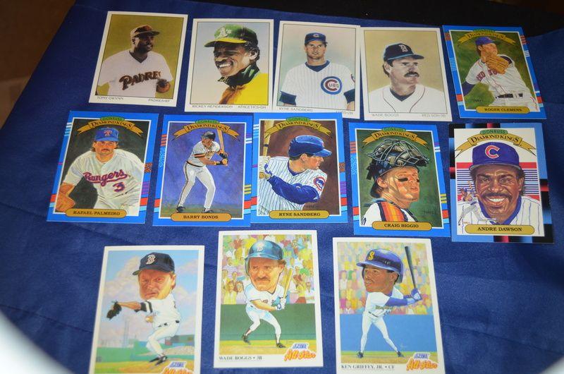 13 early 90s baseball insert stars 914 baseball