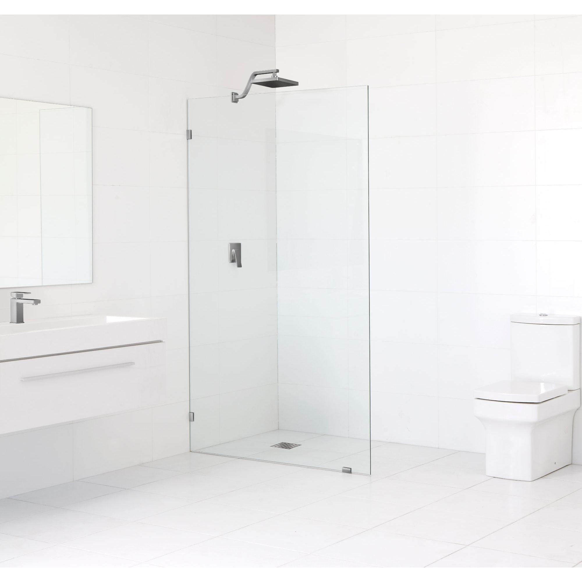 Glass Warehouse 78 x 37 Frameless Shower Single Fixed Panel ...