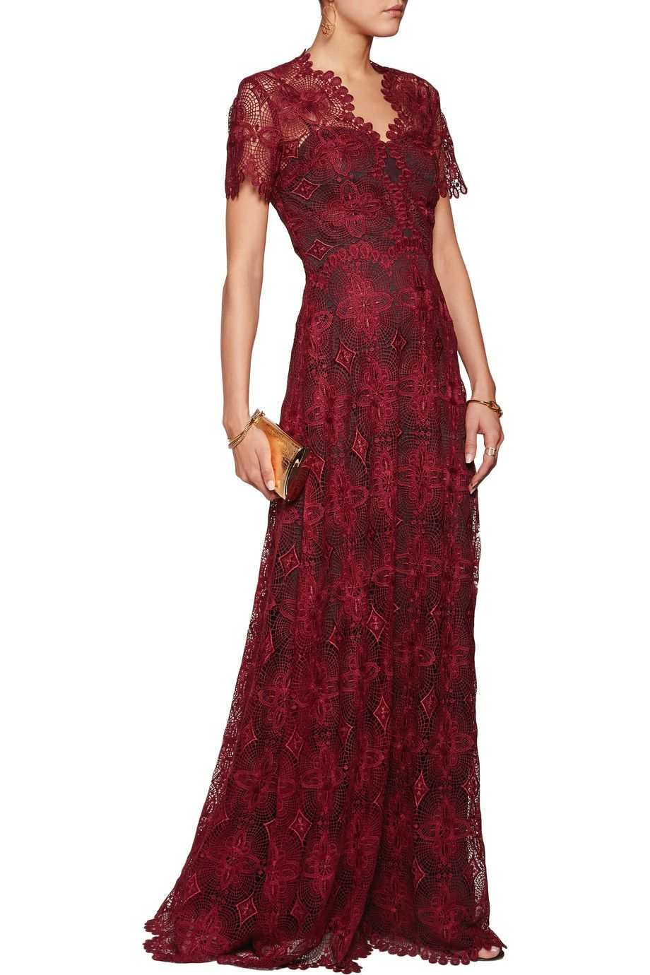 Shop onsale catherine deane gizela guipure lace gown browse other