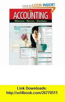 Accounting 9780538475006 Carl S Warren James M Reeve Jonathan