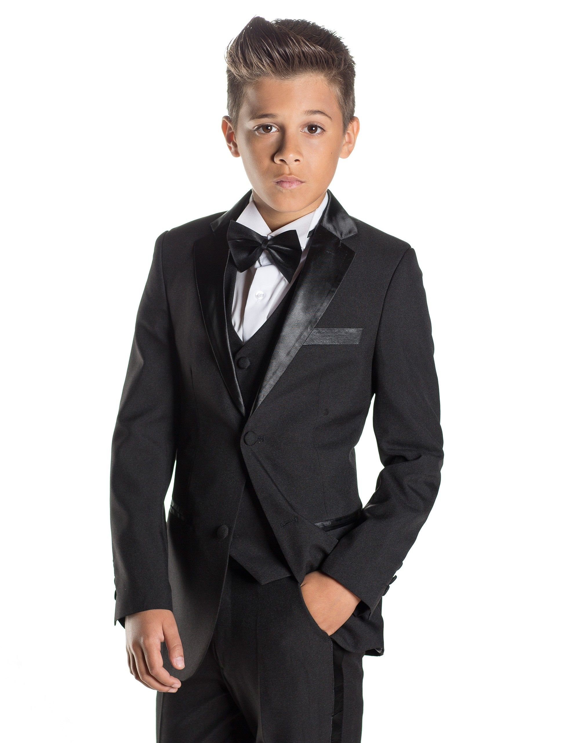 Boys black tuxedo - James | Black tuxedos, Boys black suit and Wedding