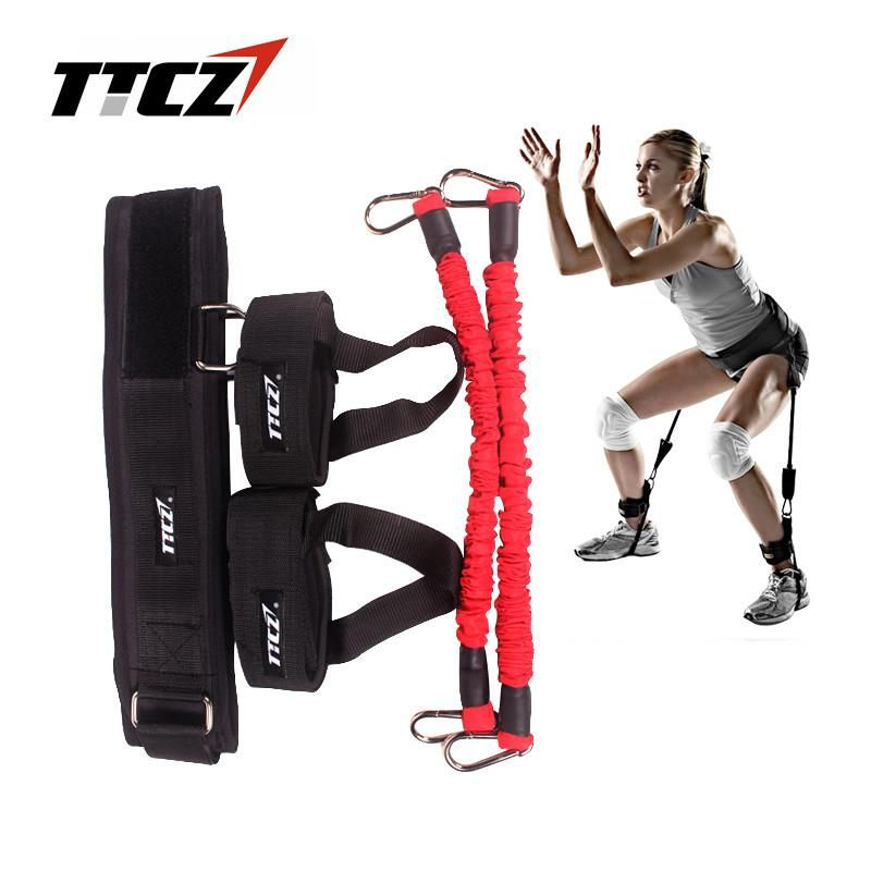 Exercise Bands Names: TTCZ Fitness Resistance Band Rope For Running Jump Leg