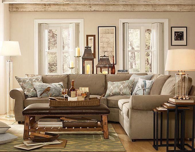 Living Room Ideas  Living Room Decorations Pottery Barn Cronin - wohnideen wohnzimmer mediterran