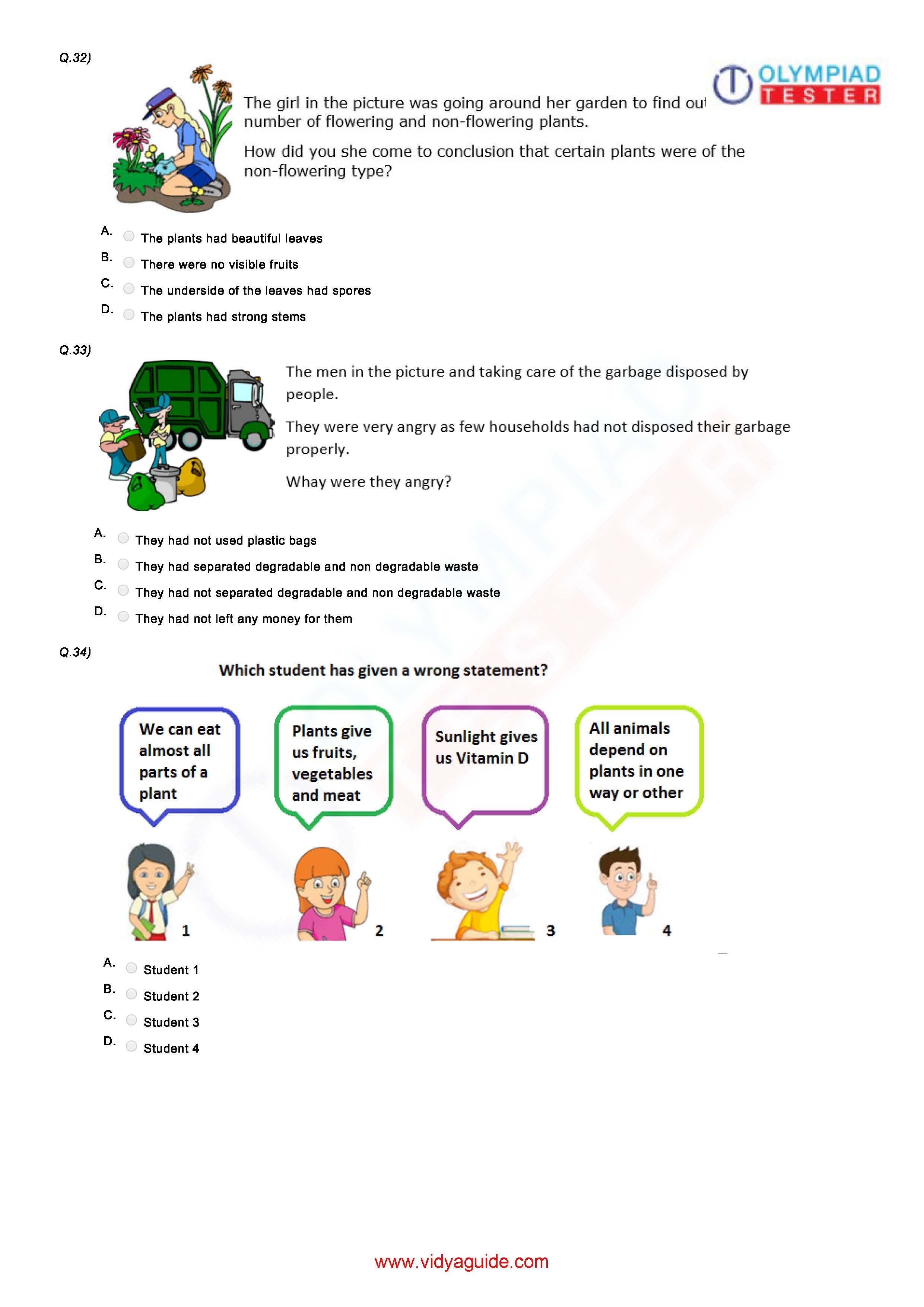 Class 3 Nso Worksheet 01
