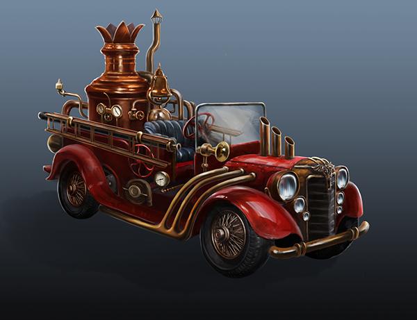 https://www.behance.net/gallery/22170831/Steam-punk-fire-truck-concept