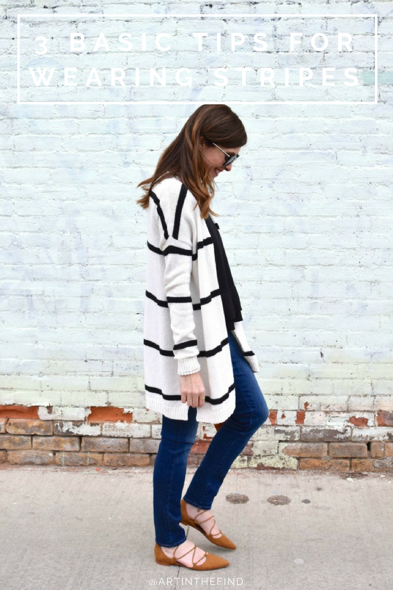 83130fcae4 How To Wear A Black and White Striped Sweater with Jeans