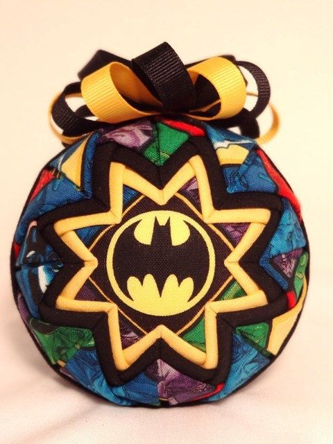 quilted christmas ornaments | Quilted Ornament - Batman - Handmade Fabric Ornament. $15.00, via Etsy ...