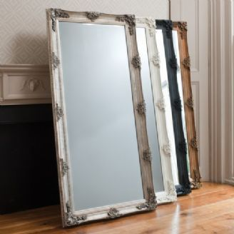 Abbey French Ornate Large Wall Leaner Mirror Black Gold Silver Cream Leaner Mirror Ornate Mirror Mirror Dunelm