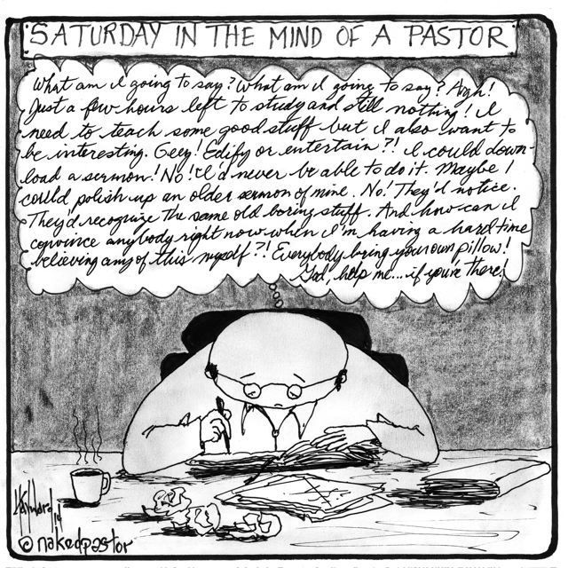 """Pastors on Saturday"" cartoon by nakedpastor David Hayward (50% OFF SALE on ALL my ART! Use coupon code 'trickortreat'.)"