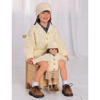 Crochet Patterns Galore - Aran Look Set | 18 inch doll clothes ...