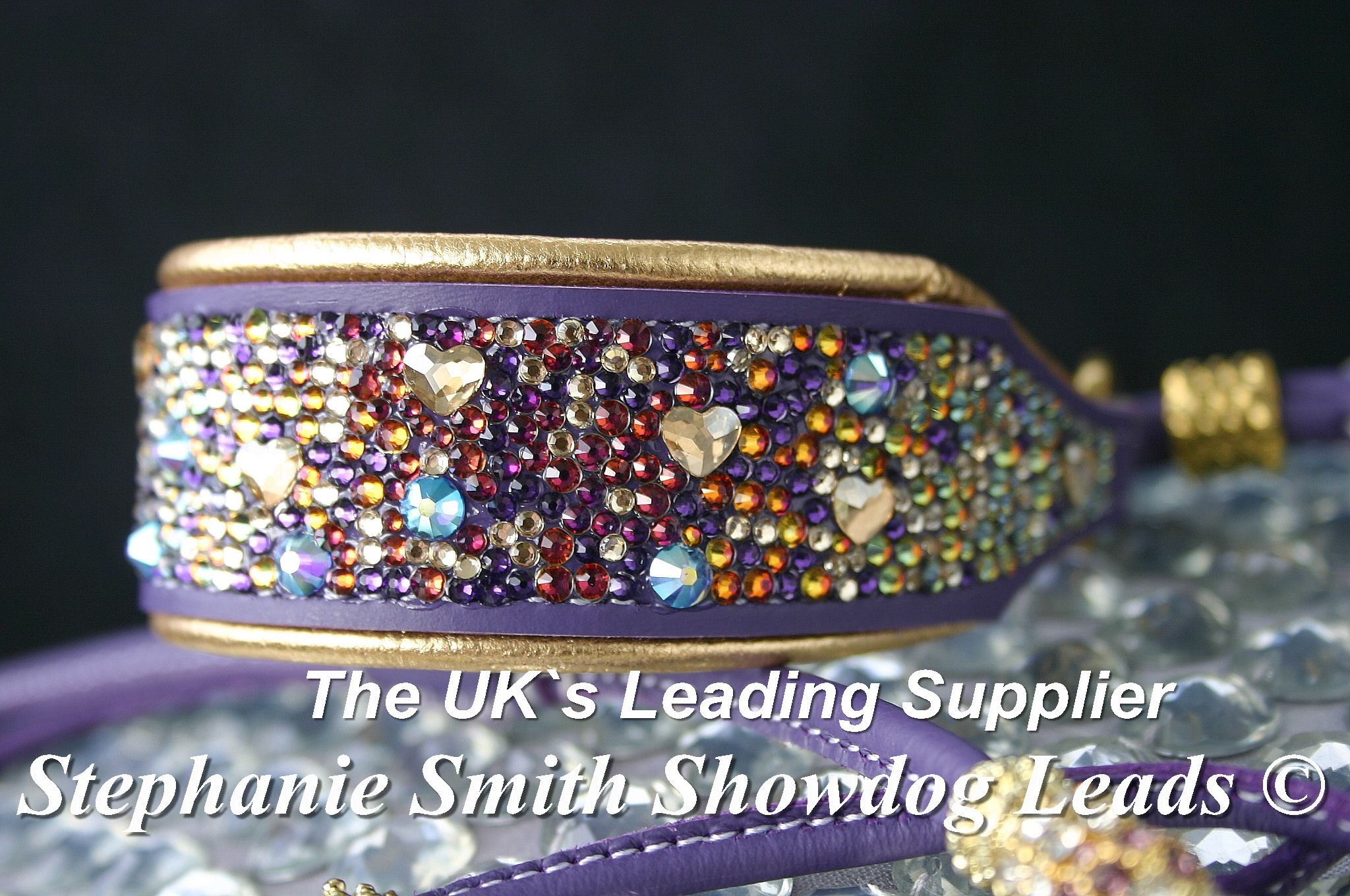 ebce350643fe Swarovski crystal dog collar with over 1500 individually placed and set  Swarovski Crystals showdogleads.weebly.com