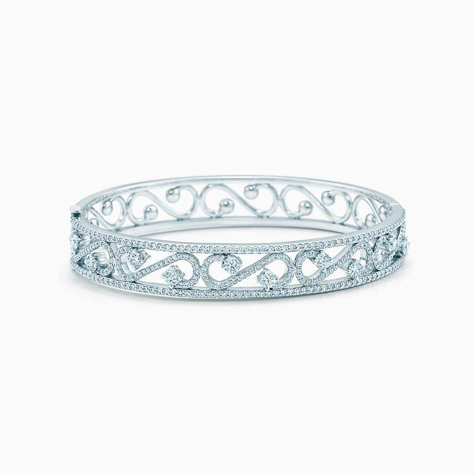 Paloma PicassoOlive Leaf Narrow Cuff Picasso White gold and Leaves
