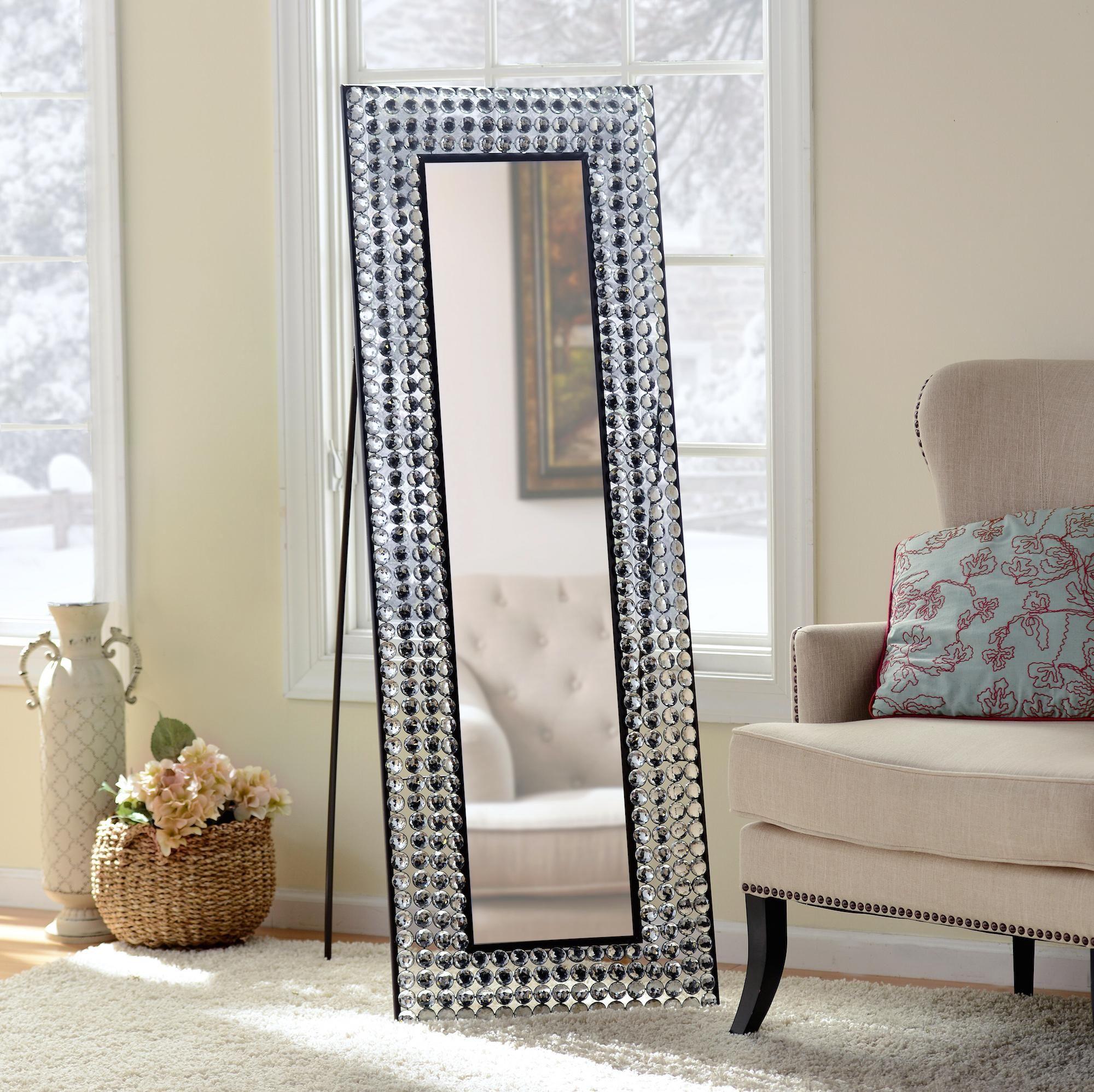 Kirkland S Floor Mirror Shabby Chic Full Length Mirror Bling