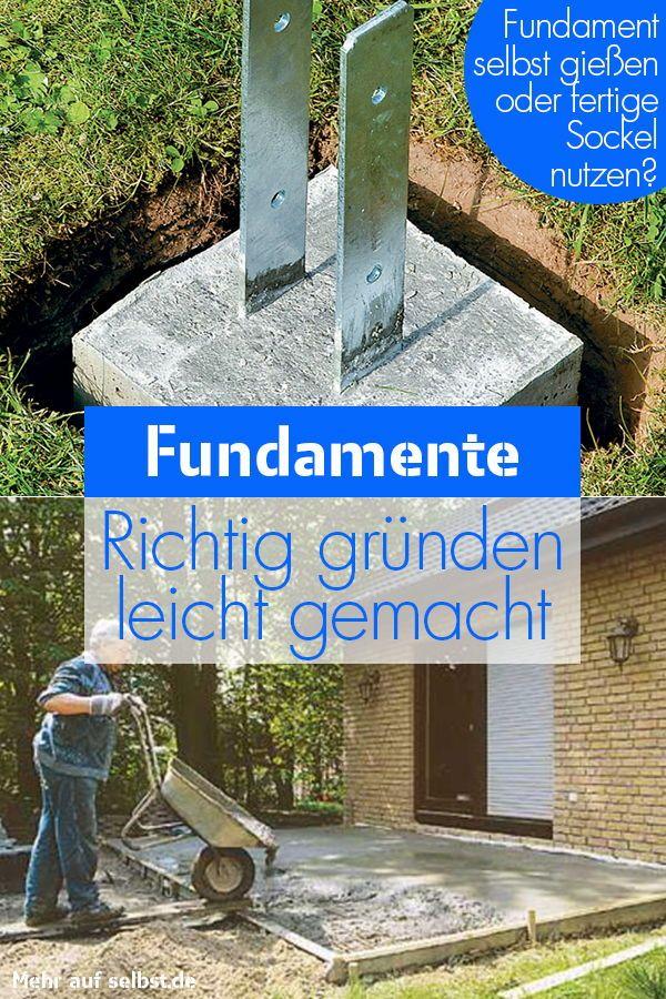 Fundamente Gartenmauer Terrasse Anlegen Uberdachung Garten