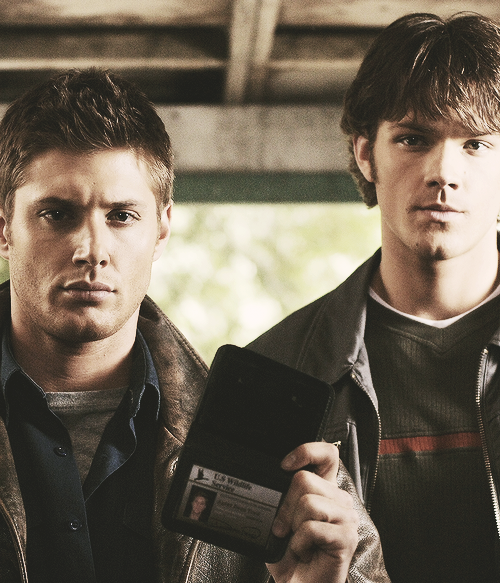 Jensen Ackles as Dean Winchester and Jared Padalecki as
