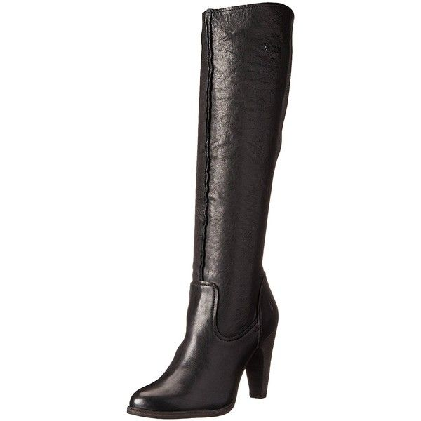 FRYE Women's Celeste Artisan Tall (370 AUD) ❤ liked on Polyvore featuring shoes, boots, real leather boots, stacked heel boots, frye knee high boots, tall knee high boots and frye