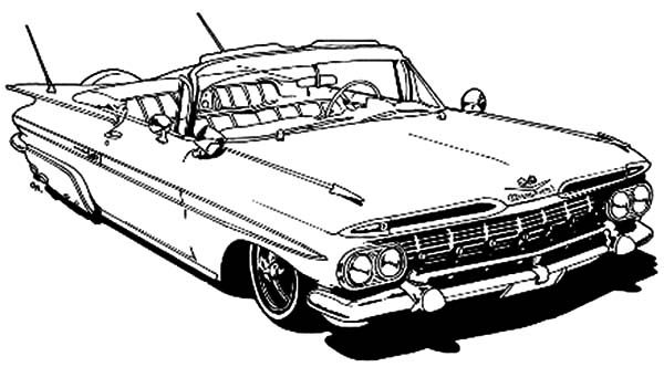 pin old car coloring - photo #3