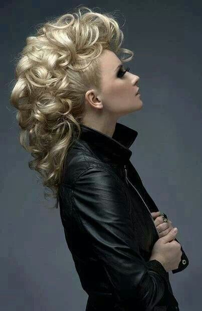Style Inspiration Elegant Mohawk Classy Rock Funky Hairstyles For Long Hair Curly Hair Styles Hair Styles