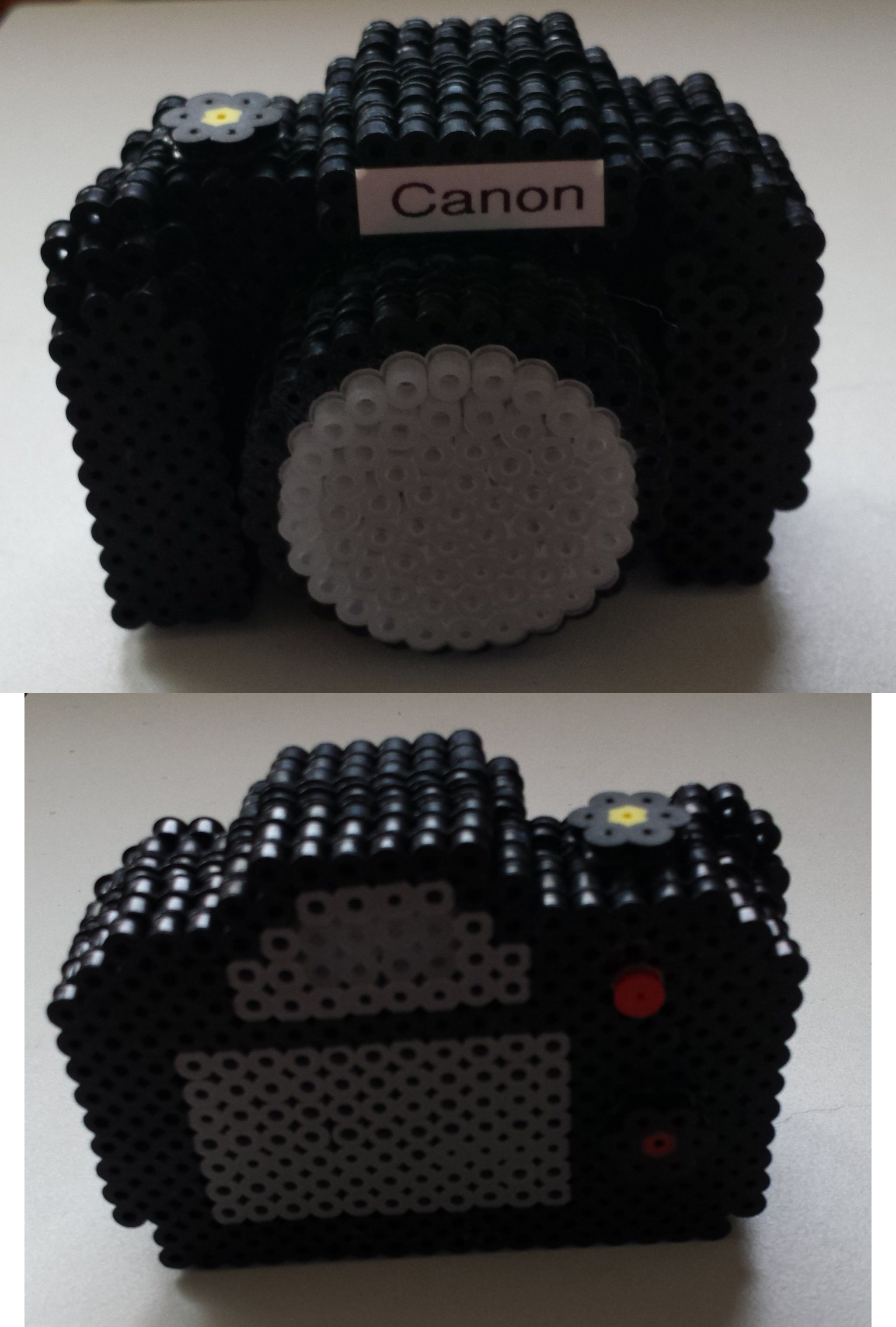 3D Canon Camera perler beads by Joanne Schiavoni | Hama Beads ...