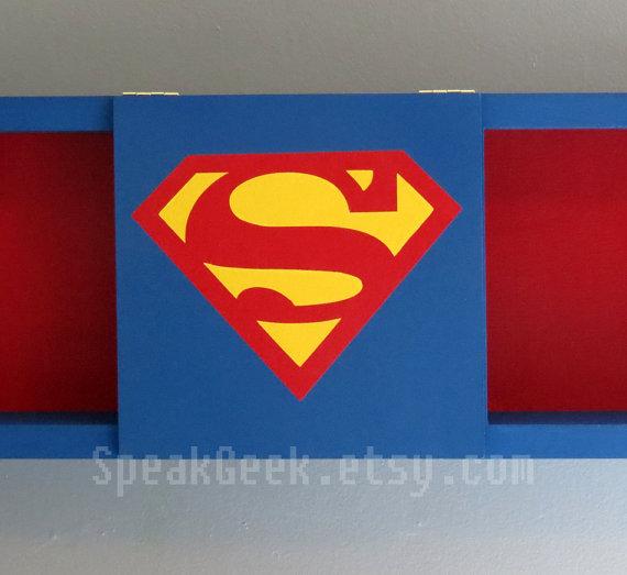 Superman - Supergirl - Shadow Box Shelf - Home Decor - Cubbie Shelf ...
