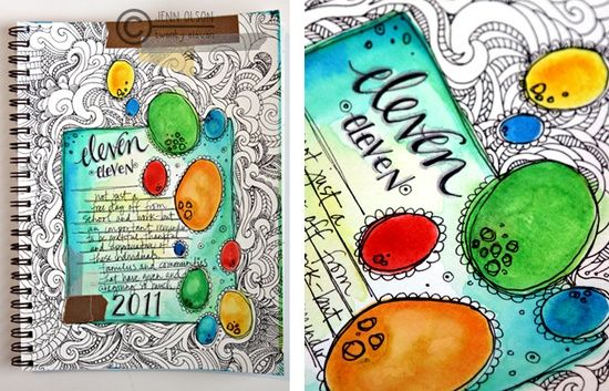 Drawing Journal Ideas | art journal ideas / art journal, color vs black and white