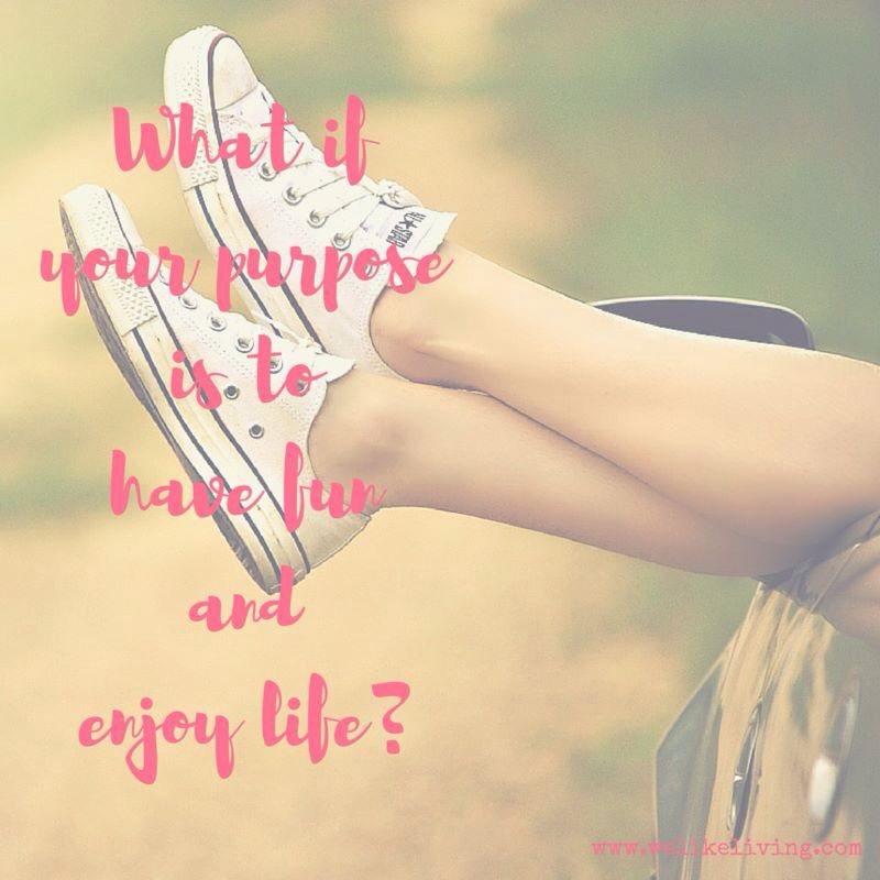 What if your purpose is to have fun and enjoy life? #gelukiseenkeuze