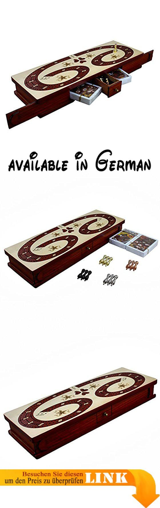 Traditionelles Hölzernes 3 Spieler Cribbage Brettspiel Set Mit 12 Metall  Pegs, 2 Decks Von Karten, 12 Metall Pegs Mit Lagerung.