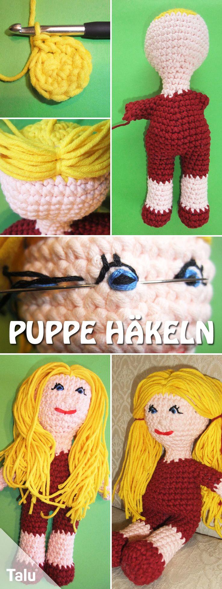Puppe Selber Häkeln Kostenlose Anleitung Für Häkelpuppe Mit Haaren