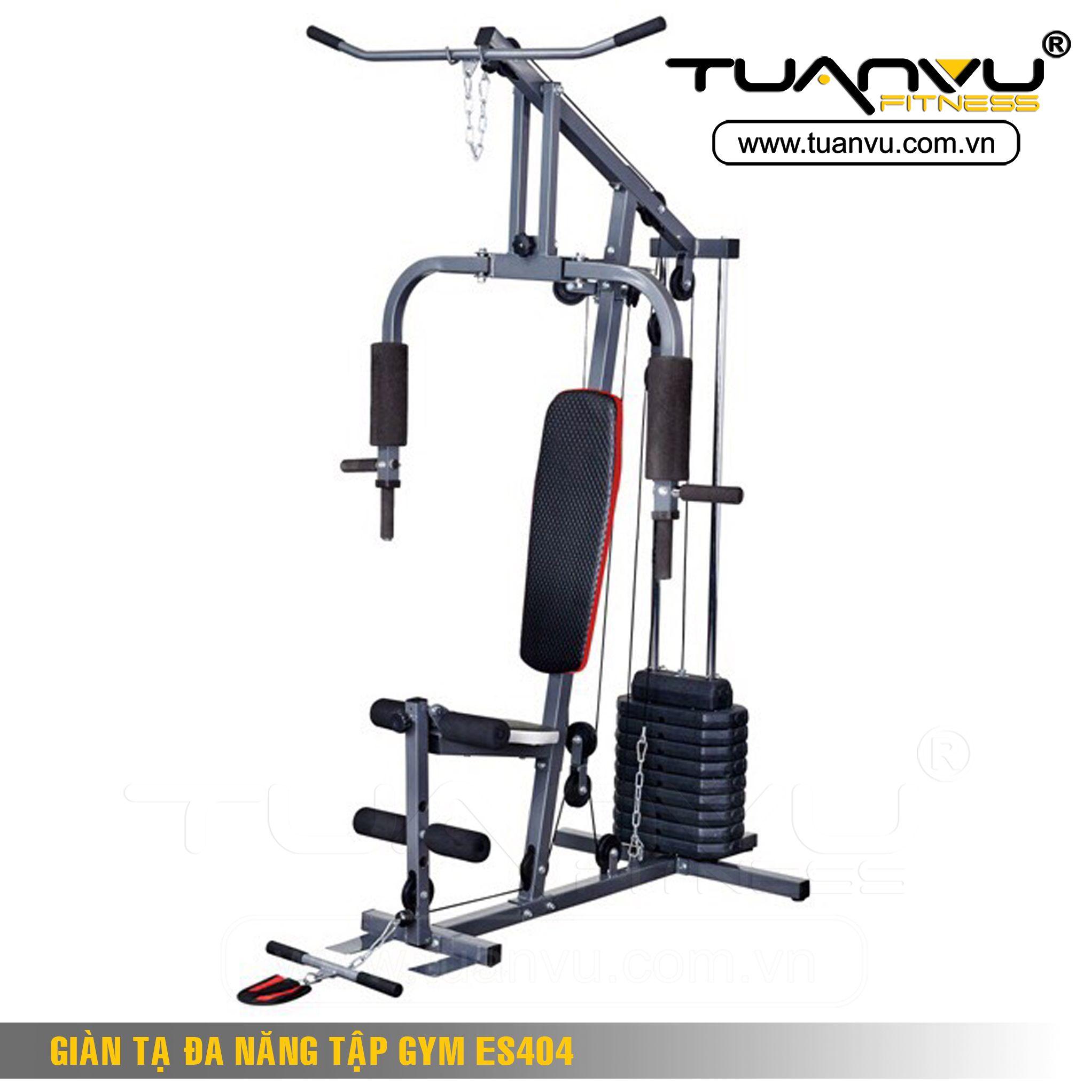 Giàn tạ đa năng tập gym ES422 là thiết kế thuận tiện đối với các phòng