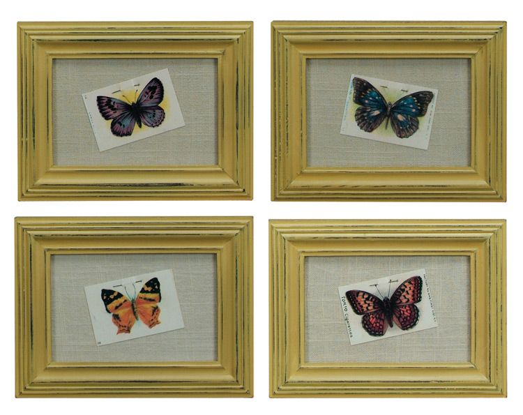 $19.50 {Vintage Charm} Tokio Butterflies In Distressed