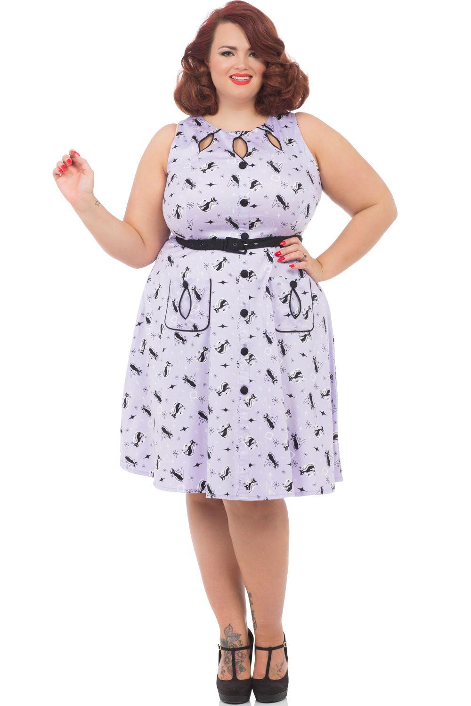 Voodoo Vixen Lavender Kitty Dress | Voodoo Vixen Lilac Kitty ...