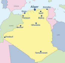 Carte Geographique De Lalgerie.Carte Geographique De L Algerie North Africa Middle East