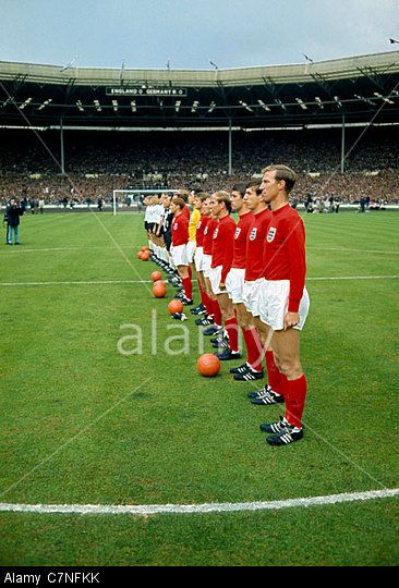Stock Photo 30 7 1966 Football World Cup Final 1966 England V West Germany The Two Teams Line Up For The National Anthem World Cup Final World Cup Football